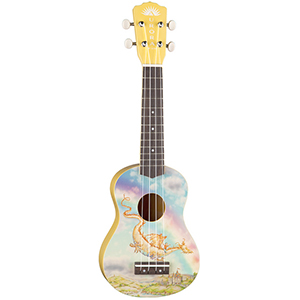 Luna Guitars Aurora Childrens Ukulele - Dragon [AR UKE DRAGON]