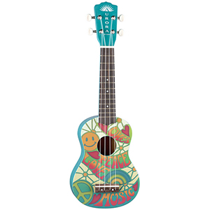 Luna Guitars Aurora Childrens Ukulele - Peace [AR UKE PEACE]