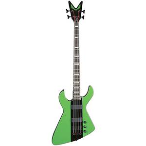 Dean Demonator 4 Bass - Black and Green [DEMONATOR 4]