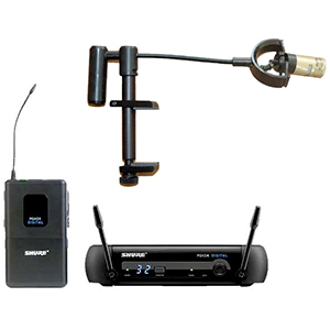 Shure Pro Digital Wireless Violin Microphone System [VSW Shure PGXD14]