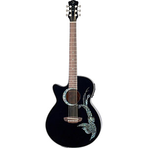 Luna Guitars Fauna Series Phoenix Lefty [FAU PHX BLK LEFTY]