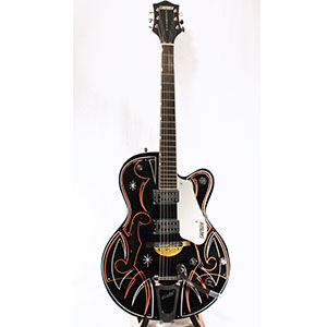 Gretsch G5120 Electromatic Black with Custom Hand Painted Graphix [2505811806]