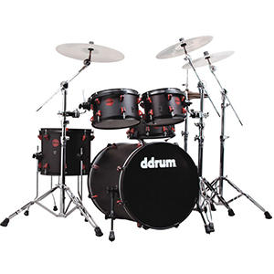 Ddrums Hybrid 5 Black and Red Shell Pack [HYBRID 5 BLK RED]