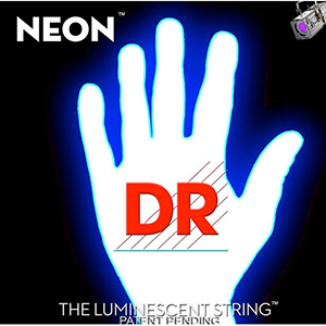 DR K3 NEON Hi-Def White Electric Strings