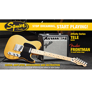 Squier Stop Dreaming, Start Playing! Affinity Tele Butterscotch Blonde with Frontman 15G Amp [0301618050]