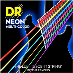 DR Hi-Def NEON Multi-Color Coated Electric Guitar Strings - Lite [NMCE-9]