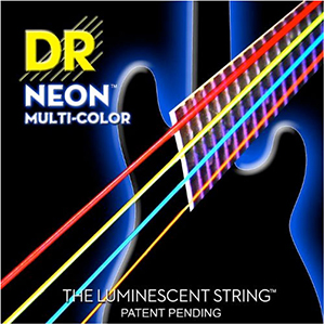 DR Hi-Def NEON Multi-Color Coated 6-String Bass Strings - Medium [NMCB6-30  ]