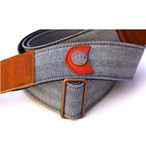 Copper Peace Herringbone Guitar Strap