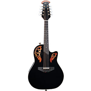 Ovation Pro Mandolin MM68AX Black w/ DLX Case [MM68AX-5]