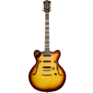 Hofner Verythin Contemporary Series Brown Sunburst
