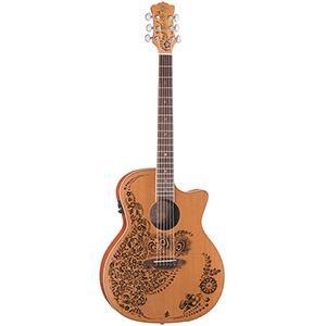 Luna Guitars Henna Oasis - Cedar Nylon [HEN O2 NYL]