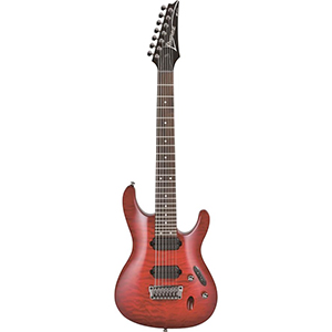 Ibanez S7421QM Transparent Red Burst [S7421QMTRB]
