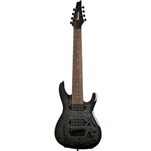 Ibanez S8QM Transparent Gray Burst [S8QMTGB]