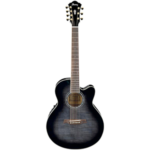 Ibanez AEL207E 7-String Transparent Black Sunburst [AEL207ETKS]
