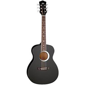 Luna Guitars Aurora Borealis 3/4 Guitar Black Pearl