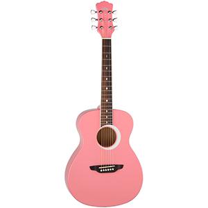 Luna Guitars Aurora Borealis 3/4 Guitar Pink Pearl