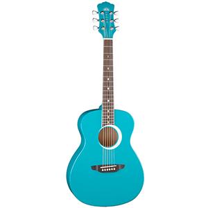 Luna Guitars Aurora Borealis 3/4 Guitar Teal