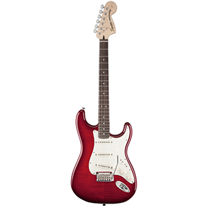 Standard Strat FMT Crimson Red Transparent