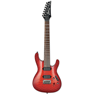 Ibanez S7521QM Transparent Red Burst [S7521QMTRB]
