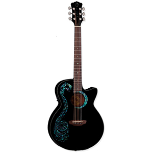 Luna Guitars Fauna Dragon [FAU DRA BLK]