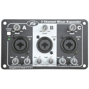 Peavey Three Channel Mixer Expansion Module [03052740]