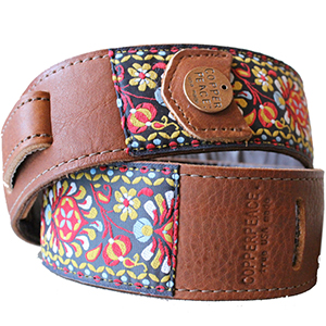 Copper Peace Gypsy Leather Banjo Strap [CP-GYP-JT2-BR]
