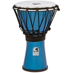 Toca Freestyle ColorSound Djembe Metallic Blue [TFCDJ-7MB]