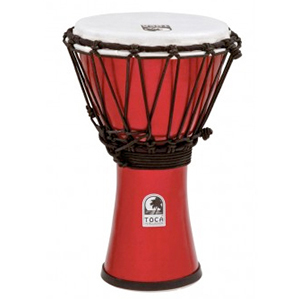 Toca Freestyle ColorSound Djembe Metallic Red [TFCDJ-7MR]