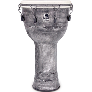 Toca Freestyle Mechanically Tuned Djembe Silver [SFDMX-14ASB]