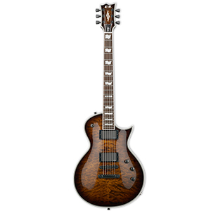 ESP E-II ECLIPSE QM Dark Brown Sunburst