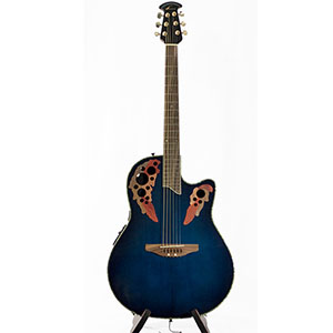Ovation CC48-8T Celebrity Deluxe - Transparent Blue Blemished [CC44]