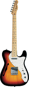 Fender 69 Telecaster® Thinline - 3-Color Sunburst Alder with Gig Bag [0136902300]