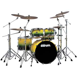 Ddrums Dios Maple 5-Piece Yellow Black Fade Sparkle [DS MP 22 5 YB]