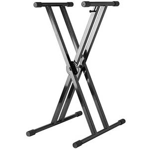 Strukture Double X-Brace Keyboard Stand - Gloss Black