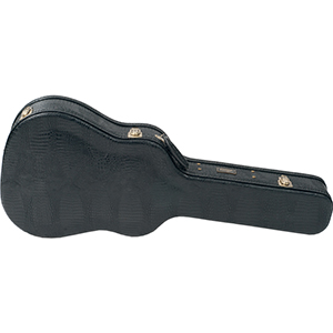 Lag D7 Dreadnought Black Croc Leather finish