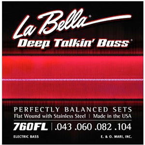 LaBella 760FL Deep Talkin' Bass Flat Wound Light