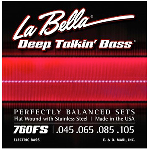 LaBella 760FS Deep Talkin' Bass Flat Wound Standard