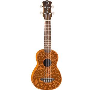 Luna Guitars Peace Love Soprano Uke