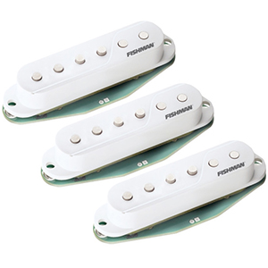 Fishman Fluence Single-Width Strat Pickup White - 3-Pack