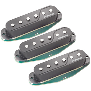 Fishman Fluence Single-Width Strat Pickup Black - 3-Pack