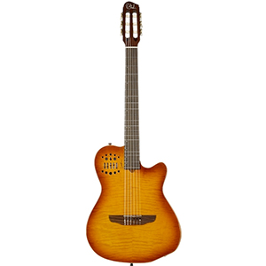 Godin ACS-SA Lightburst Flame Nylon USB High-Gloss