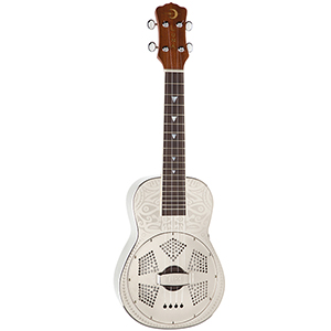 Luna Guitars Tiki Resonator Concert Ukulele