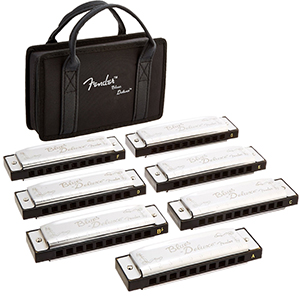 Fender Blues Deluxe Harmonicas - 7 Pack
