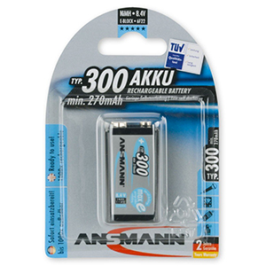 Ansmann NiMH Rechargeable Battery 9V-Block
