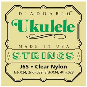 Daddario J65 Ukulele Strings -Soprano