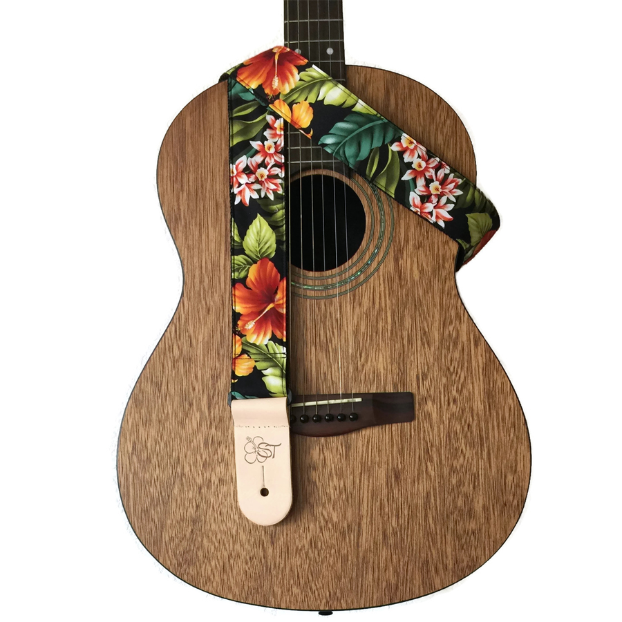 Sherrins Threads Hawaiian and Conversational Guitar Straps Bird of Paradise