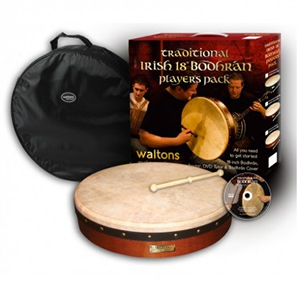 Waltons 18 Standard Dark Brown Bodhran Pack