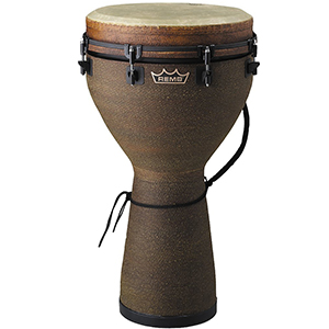 Remo 12-Inch Key-Tuned Djembe Earth Fabric Finish