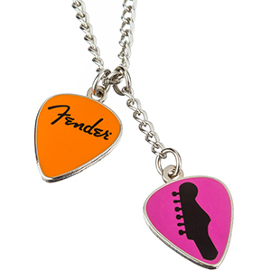 Fender Love Peace and Music Necklace