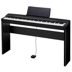 Casio PX-160 Privia Piano with Furniture Stand System